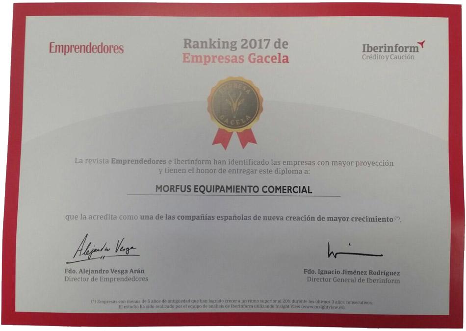 Empresas Gacela 2017 - Morfus Equipamiento Comercial